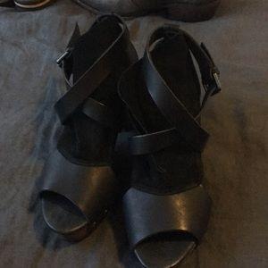 Free people blank sandal heel size 38
